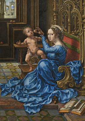 Jan Gossaert Painting - Madonna And Child by Jan Gossaert