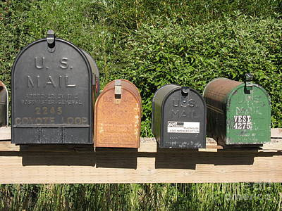 Mail Box Photograph - Mail Boxes  by Diane Greco-Lesser