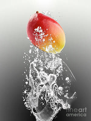 Mango Mixed Media - Mango Splash by Marvin Blaine
