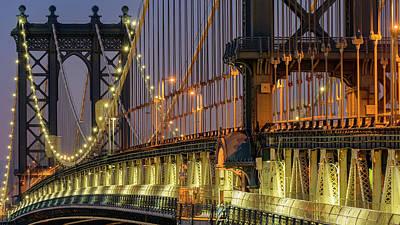 Manhattan Bridge Print by Randy Lemoine