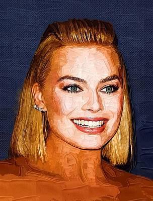 Orlando Bloom Digital Art - Margot Robbie Art by Best Actors