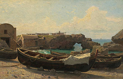 William Stanley Haseltine Painting - Marina Piccola. Capri by William Stanley Haseltine