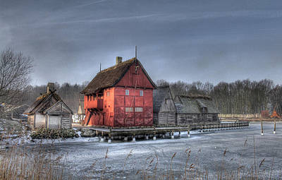 House Photograph - Medieval Village - Houses by Jan Boesen