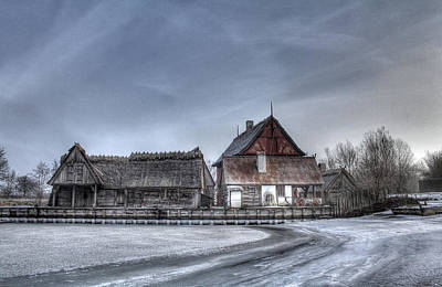 Houses Photograph - Medieval Village by Jan Boesen