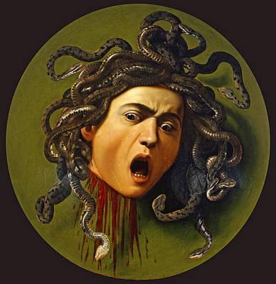 Caravaggio Painting - Medusa by Caravaggio
