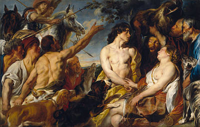 Hero Painting - Meleager And Atalanta by Jacob Jordaens