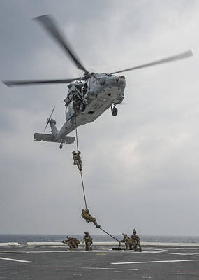 Liberty Painting - Mh-60s Sea Hawk Helicopter Us Navy by Celestial Images