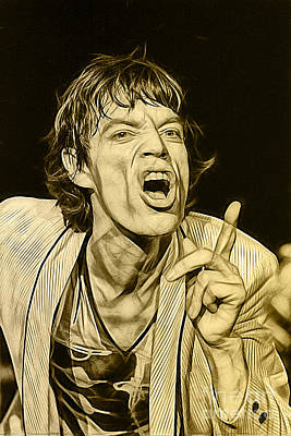 Rock N Roll Mixed Media - Mick Jagger Collection by Marvin Blaine