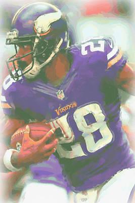 Peterson Digital Art - Minnesota Vikings Adrian Peterson by Joe Hamilton