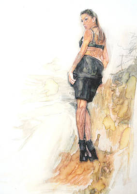 Beverly Hills Drawing - Model  by Jani Heinonen