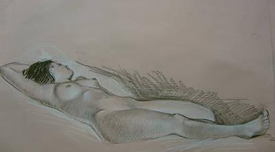 Woman Drawing - Model Study by Tigran Ghulyan