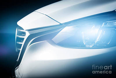 Concept Photograph - Modern Luxury Car Close-up Background by Michal Bednarek