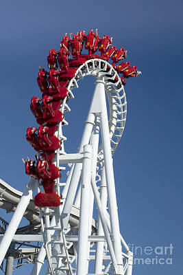 Rollercoaster Photograph - Modern Rollercoaster by Anthony Totah