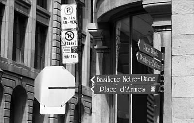 Montreal Landmarks Photograph - Montreal Street Scene by Frank Romeo
