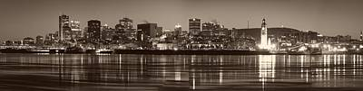 Montreal Cityscapes Photograph - Montreal Sunset Panorama by Mountain Dreams
