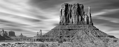 Panoramic Digital Art - Monument Valley by Mike McGlothlen