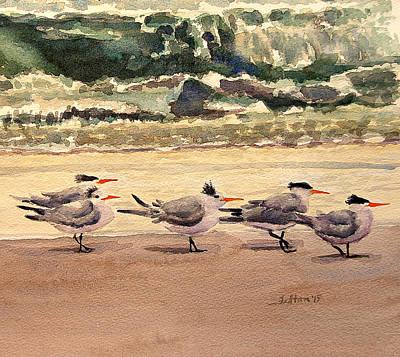 Morning Terns Print by Julianne Felton