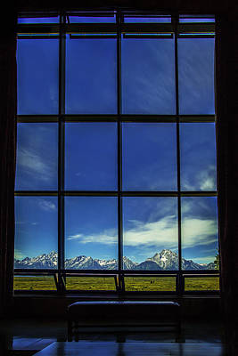 Window Photograph - Mountain View by Andrew Soundarajan