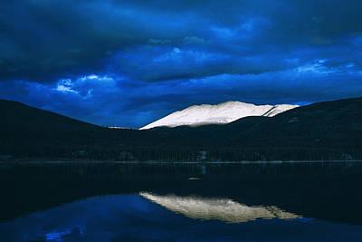 Dawn Photograph - Mountains by Artistic Panda