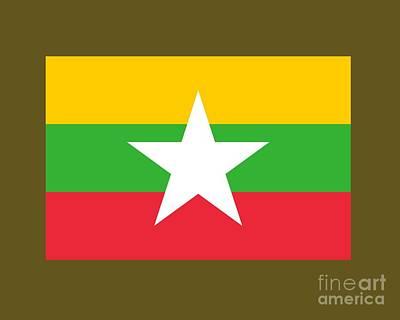 Myanmar Flag Original by Frederick Holiday