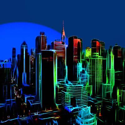Nyc Digital Art - New York Colors by Steve K