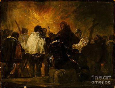 Inquisition Painting - Night Scene From The Inquisition by Celestial Images