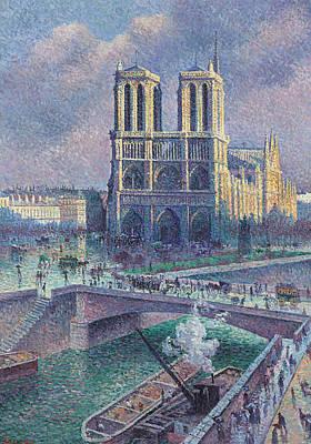 Notre-dame De Paris Print by Maximilien Luce