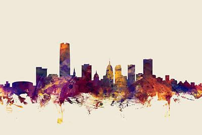 Oklahoma Digital Art - Oklahoma City Skyline by Michael Tompsett
