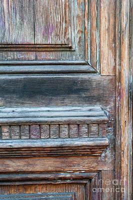 Old Door Fragment Print by Elena Elisseeva