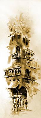 Old Lahore Print by M Kazmi