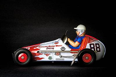 Old Race Car Print by Rudy Umans