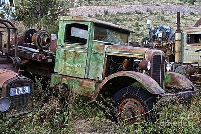 Salvage Photograph - Old Truck by Anthony Jones