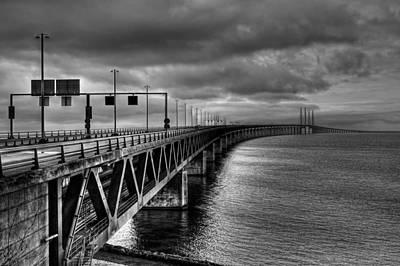 Malmo Photograph - Oresund Bridge - Malmo Sweden by Mountain Dreams