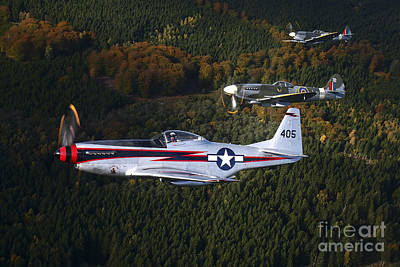 Photograph - P-51 Cavalier Mustang With Supermarine by Daniel Karlsson