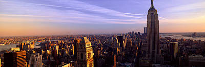 Empire State Photograph - Panoramic View Of New York City Skyline by Panoramic Images