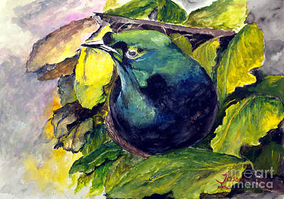 Natural Resources Painting - Paradise Bird by Jason Sentuf
