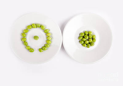 Nutrition Photograph - Peas by Nailia Schwarz