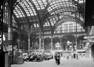 Candid Photograph - Pennsylvania Station, Interior, New by Everett
