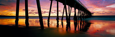 Built Structure Photograph - Pier In The Pacific Ocean, Hermosa by Panoramic Images