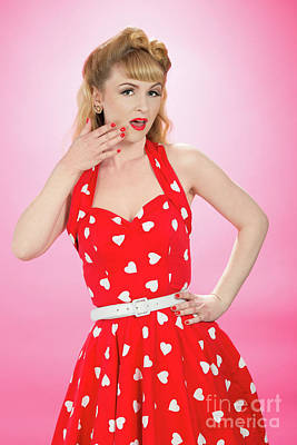 Pin Up Style Print by Amanda And Christopher Elwell