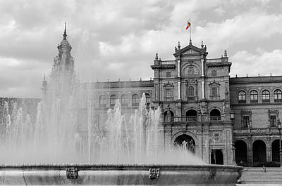 Water Photograph - Plaza De Espana - Seville - Spain  by Andrea Mazzocchetti