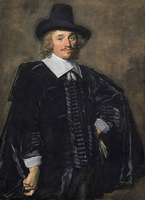 Male Painting - Portrait Of A Gentleman by Frans Hals