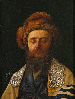 Isidor Kaufmann Painting - Portrait Of A Rabbi With Tallit by Isidor Kaufmann