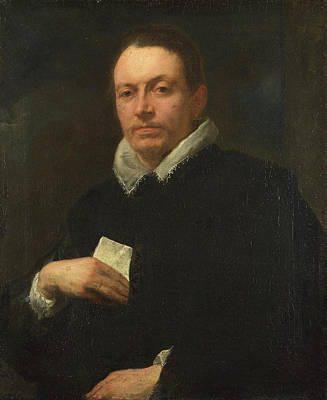 Man Painting - Portrait Of Giovanni Battista Cattaneo by Anthony van Dyck