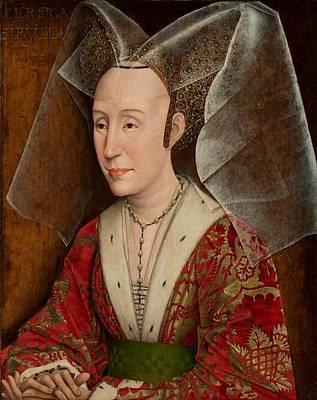 Portugal Art Painting - Portrait Of Isabella Of Portugal by Workshop Of Rogier Van Der Weyden