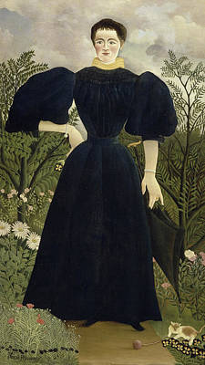 Portrait Of Madame M Print by Henri Rousseau