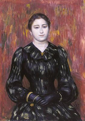 Pierre-auguste Renoir Painting - Portrait Of Mme. Paulin by Pierre-Auguste Renoir