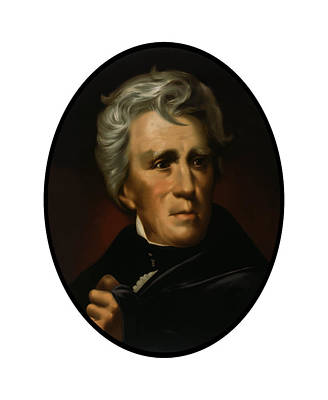 Us Presidents Painting - President Andrew Jackson  by War Is Hell Store