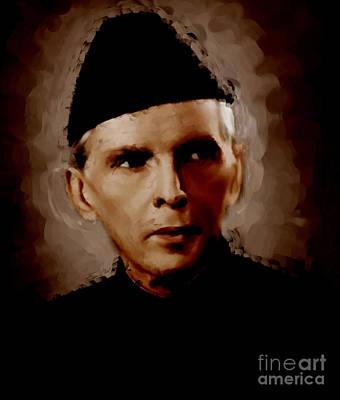 Baba Painting - Quaid E Azam by Gull G