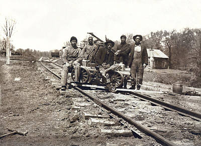 Railroad Workers Print by Underwood Archives